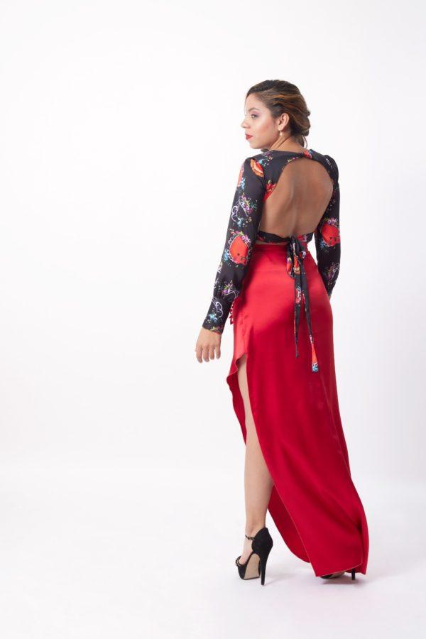 conjunto falda y blusa