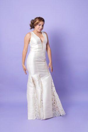vestido largo de novia